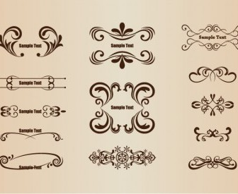 Vector Set Of Floral Design Elements Floral Vector Art