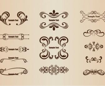 Vector Set Of Floral Design Elements Floral Vector Art