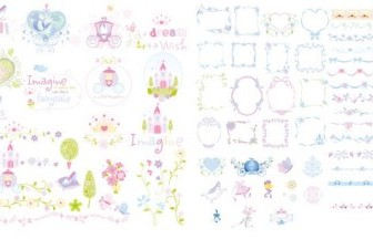 Princess Lace Border Vector Art