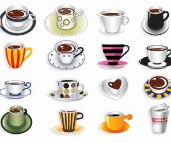 Coffee Cup Vector Set Icon Vector Graphics
