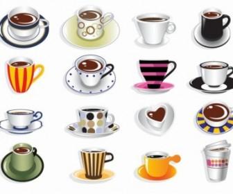 Coffee Cup Vector Set Icon Vector Graphics