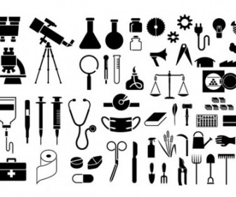 Various Elements Of Vector Silhouette Articles 54 Elements Silhouettes Vector Graphics