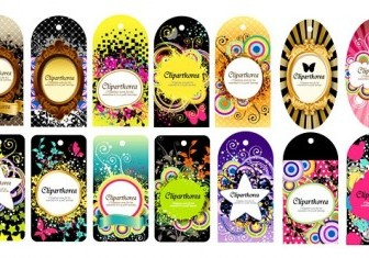 A Variety Of Fashion Label Tag Vector 14 Vector Art