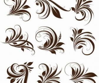 Vector Floral Elements For Design Floral Vector Art