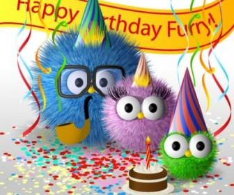Cartoon Birthday Card 01 Vector Car Vector Arttoon
