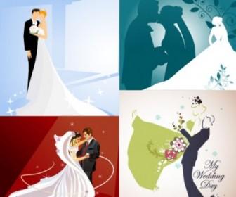 4 Wedding Wedding Theme Vector Illustrator Vector Art