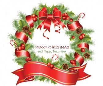 Vector Christmas Wreath Christmas Vector Graphics