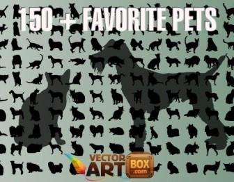Dog And Cat Clip Art Vector Art