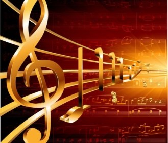 Gorgeous Classical Music Background 05 Vector Background Vector Art