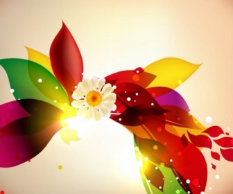 Abstract Colorful Floral Design Vector Background Floral Vector Art