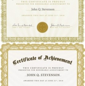 Beautiful Certificate Template 4 Vector Vector Art