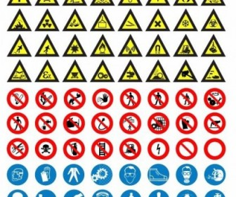 Road Sign Vector Set Icon Vector Graphics