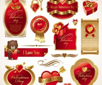 Love The Red Elements Vector Vector Art