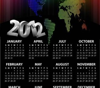 2012 Calendar Template Vector Vector Art