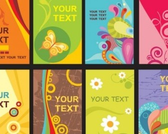 Colorful Card Templates Vector Art