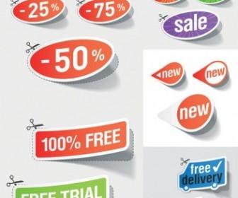 Beautiful Vector Stickers Discount Sales Vector Art