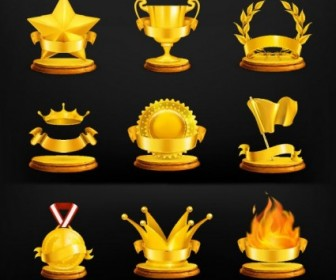 Gold Medal Icon Vector Icon Vector Graphics