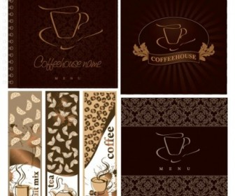 Cafe Menu Cover Vector Vector Art