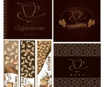 Cafe Menu Cover Vector Vector Art
