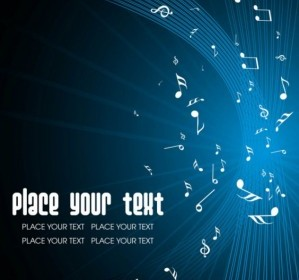 Music Keys Blue Background 01 Vector Background Vector Art
