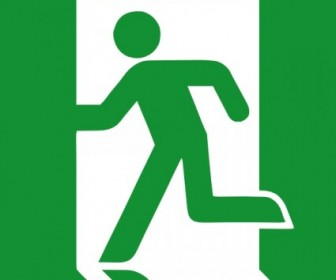 Emergency Exit Sign Clip Art Vector Clip Art