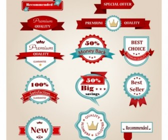 Vintage Labels Web Design Vector Graphics
