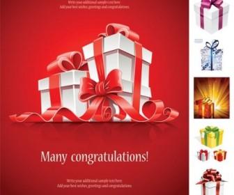 Beautiful Gift Box Vector Vector Art
