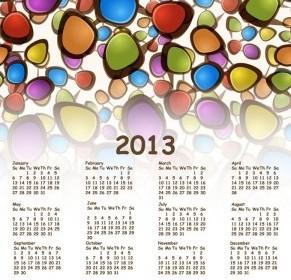 2013 Calendar Vector Vector Art