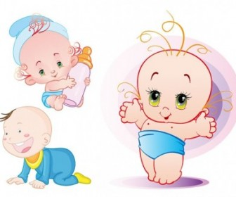 Cute Baby Vector Vector Art