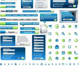 Web Design Elements Vector Set Vector Art