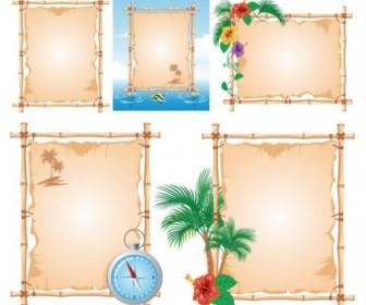 Vector Beach Theme Bulletin Board Vector Art