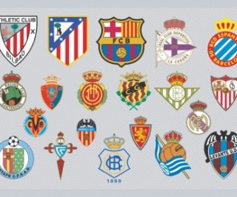 Spanish Football Team Logos Vector Art