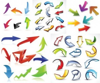 Variety Of Practical Dynamic Arrow Vector Vector Art