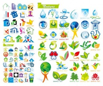 House With Ecological Theme Icon Vector Icon Vector Graphics