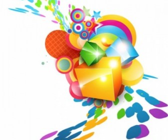 Colorful Cube Vector Background Background Vector Art