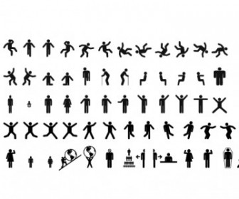 Man & Woman Sign Pictograms People Vector Art