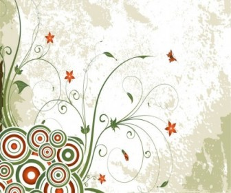 Vintage Swirl Floral Background Vector Floral Vector Art