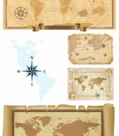 Old Map Vector Vector Art