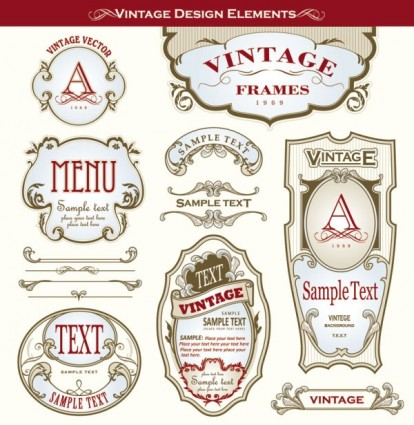 beautiful gorgeous bottle label affixed 03 vector vector