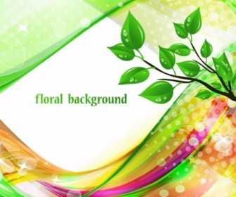 Bright Abstract Green Floral Background Floral Vector Art