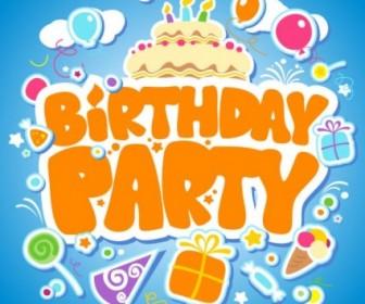 Cartoon Birthday Card 04 Vector Cartoon Vector Art