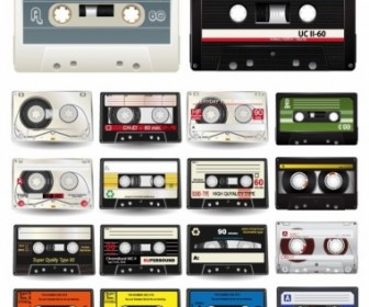 Audio Cassettes Vector Collection Vector Art