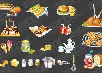 Kitchen Utensils, Such As Fine Food Icon Vector Material Icon Vector Graphics