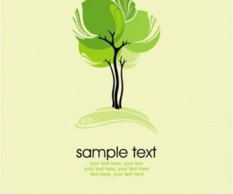 Green Tree Illustration Series 03 Vector Tree Plant Vector Graphics