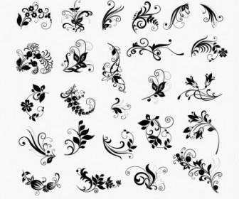 Vector Set Of Floral Elements For Design Floral Vector Art
