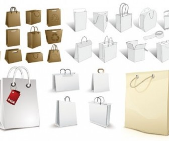 Bag A Variety Of Blank Vector Vector Art