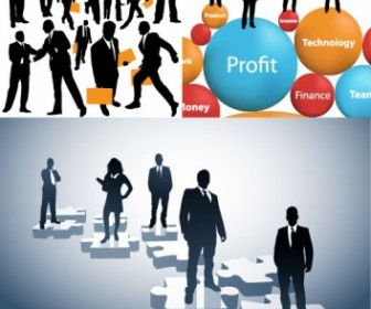 Business People Silhouette Vector People Vector Art
