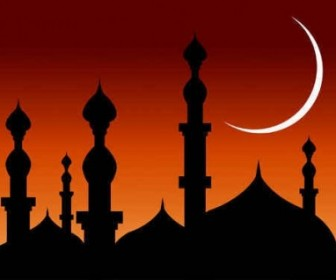 Abstract Mosque Vector Background Background Vector Art