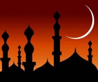 Abstract Mosque Vector Background Background Vector Art