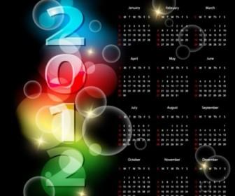 2012 Calendar 01 Vector Vector Art